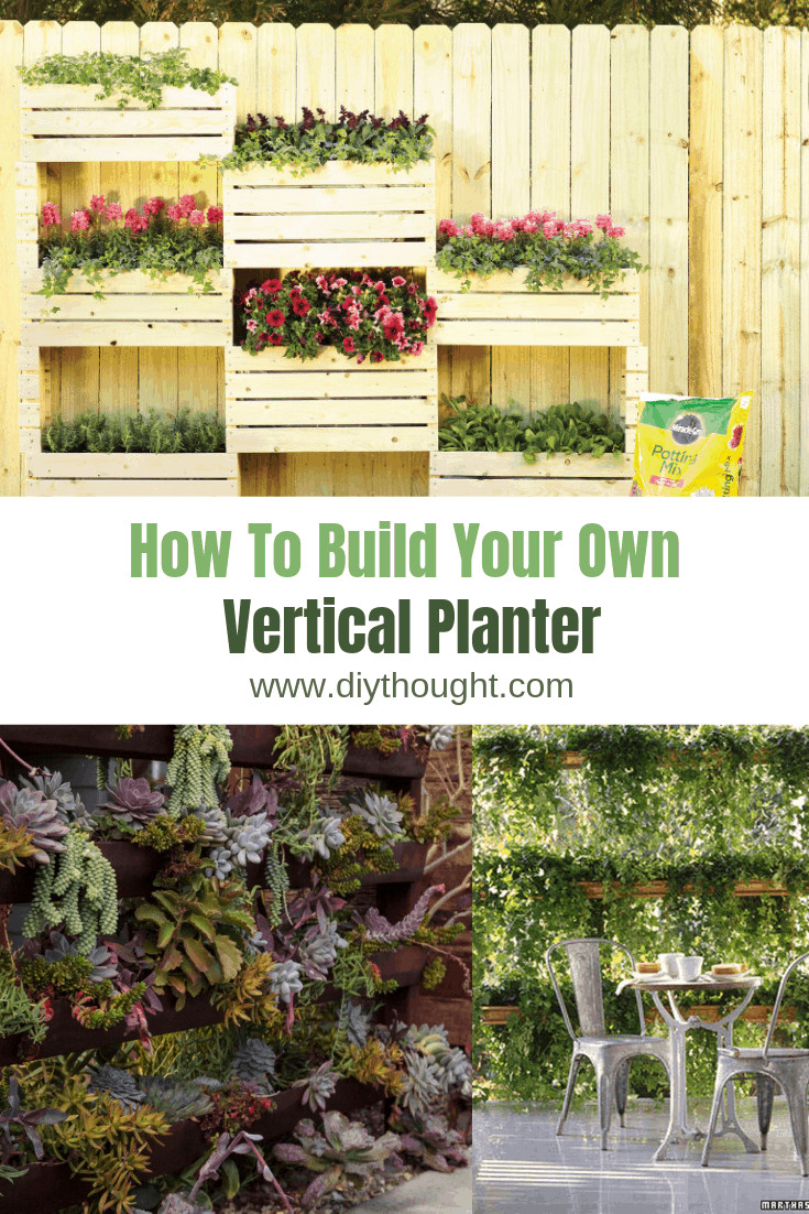 how to build your own vertical planter