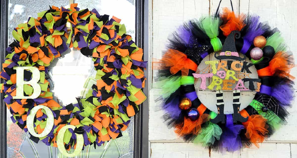 9 Easy Diy Halloween Wreaths Diy Thought