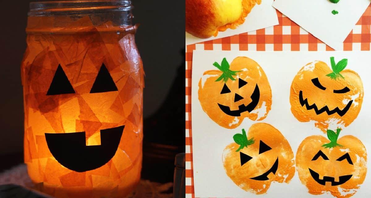 7 Halloween Kids Pumpkin Arts & Crafts