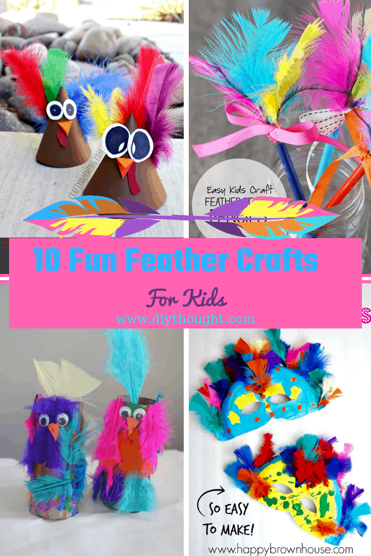 10 fun feather crafts for kids