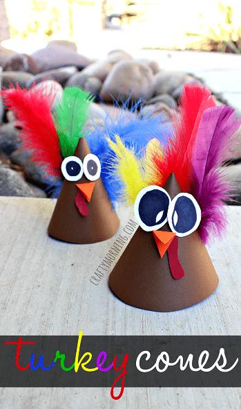 DIY turkey cones