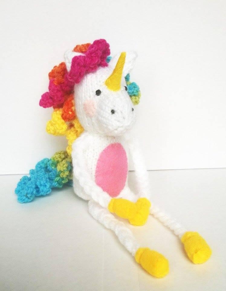 7 Adorable Free Toy Knitting Patterns- unicorn