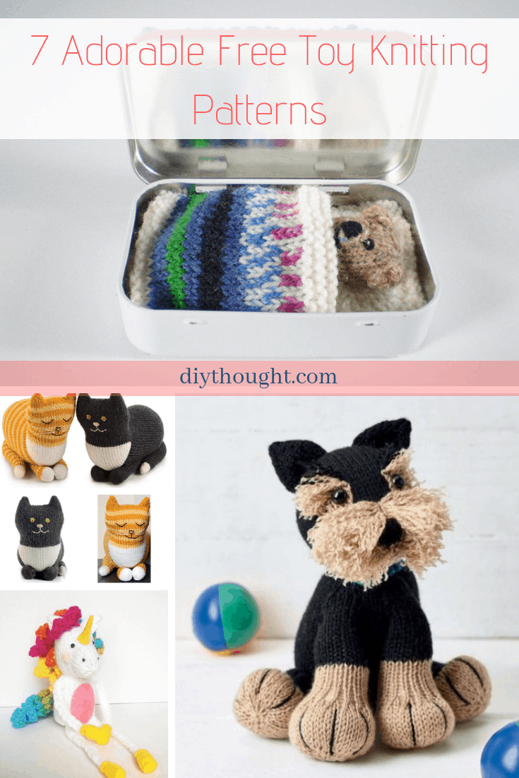 deea9ff70 7 Adorable Free Toy Knitting Patterns - diy Thought