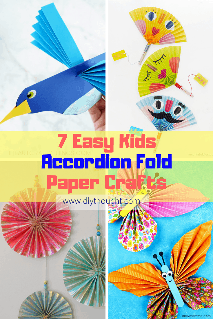 7 Easy Kids Accordion Fold Paper Crafts Diy Thought