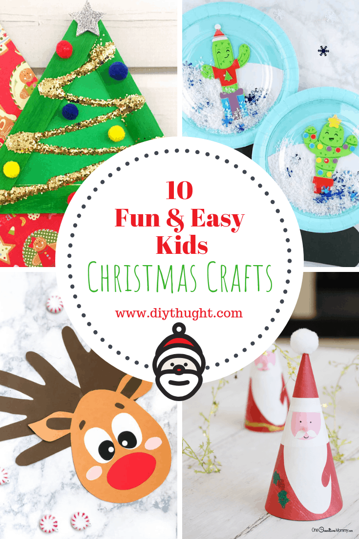 10 Fun & Easy Kids Christmas Crafts - diy Thought