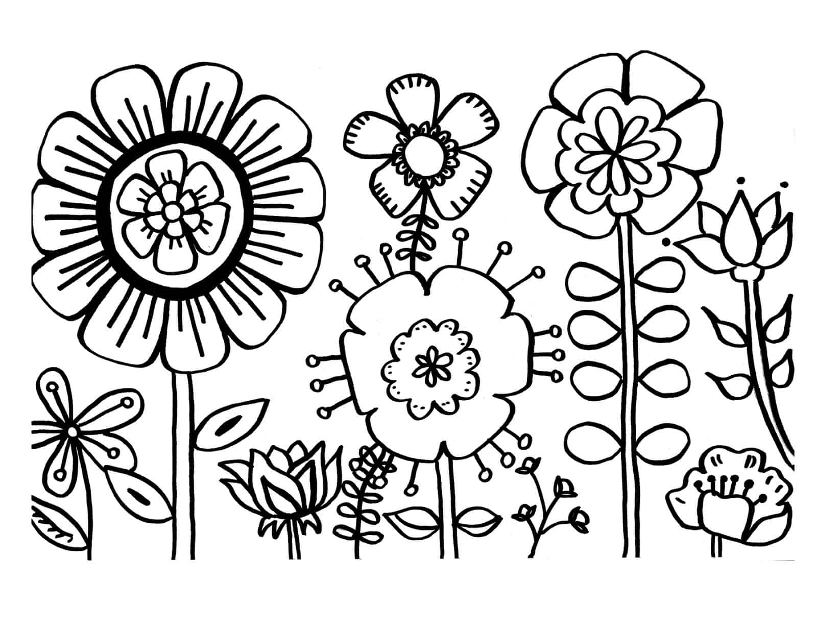 - 6 Free Flower Coloring Printables - Diy Thought