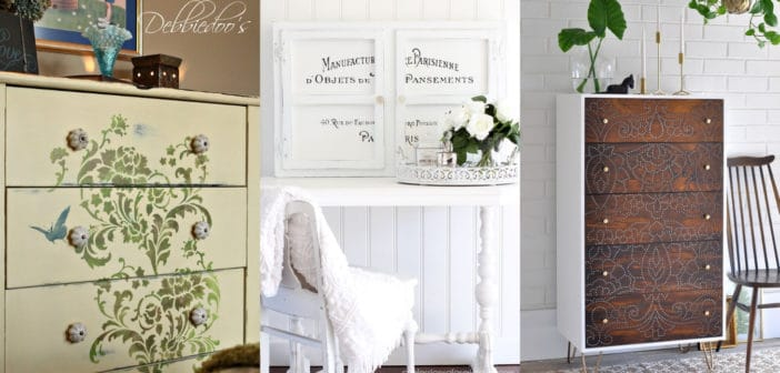 8 Incredible Stenciled Furniture Tutorials