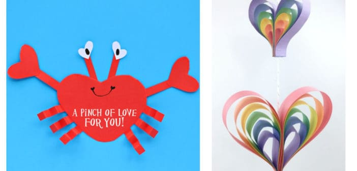 10 Kids Heart Paper Crafts