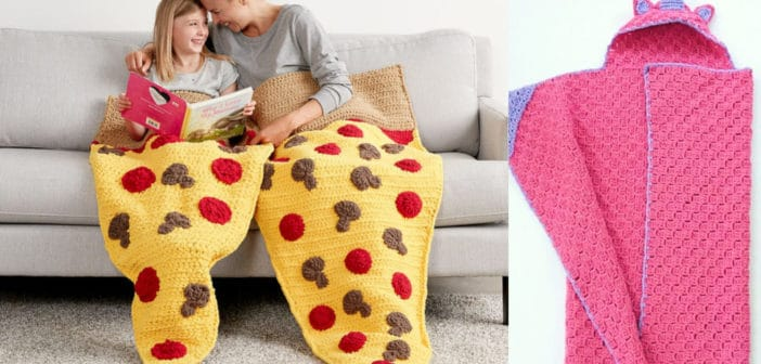 5 Homemade Kids Snuggle Blankets & Sacks