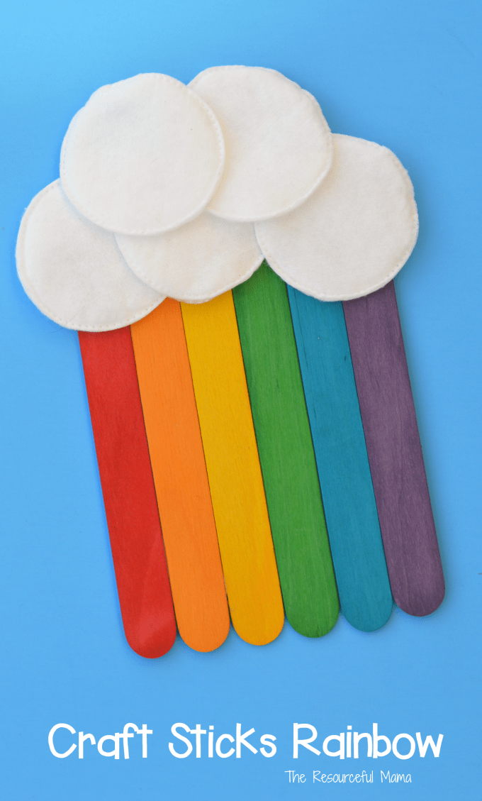 Craft stick rainbow