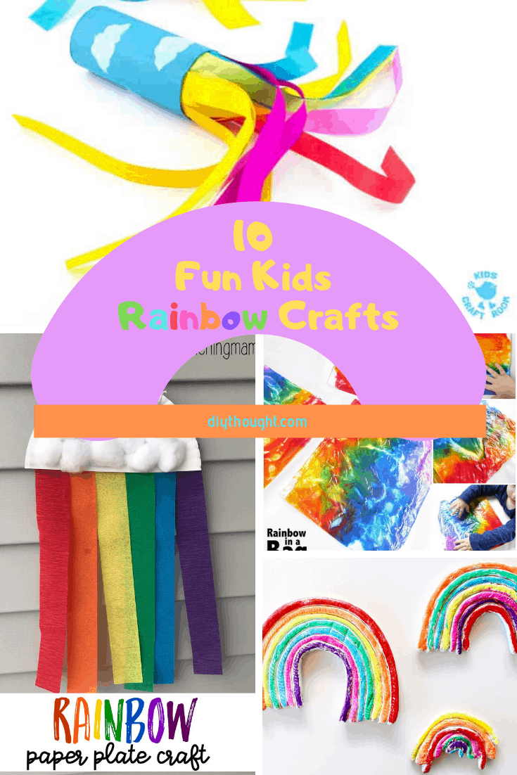10 Fun Kids Rainbow Crafts Diy Thought