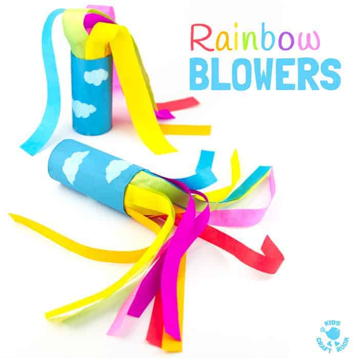 DIY rainbow blowers