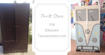 Thrift Store Volkswagen Dresser Transformation
