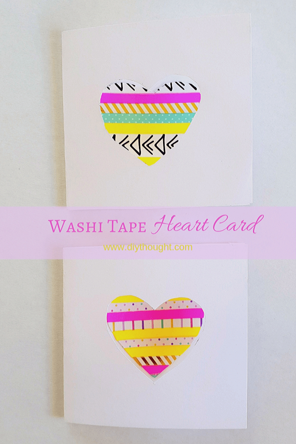 washi tape heart card