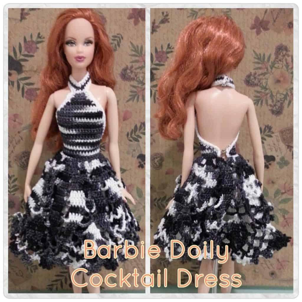 Doily Barbie Cocktail Dress Pattern