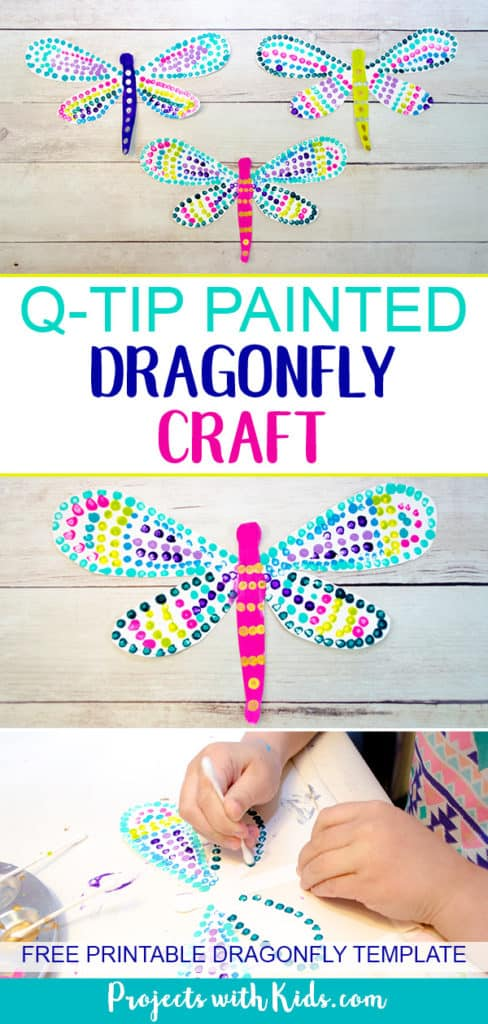 Q-tip Dragonfly Craft