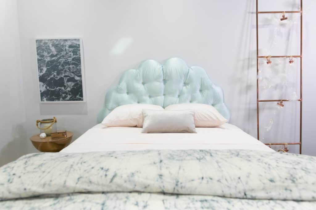Clam Shell Quilted Headboard DIY