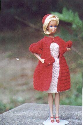 70s Barbie crochet coat