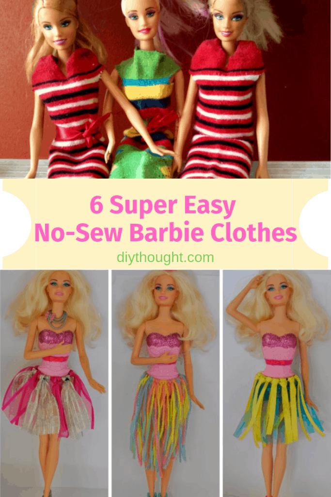 No Sew Barbie Clothes
