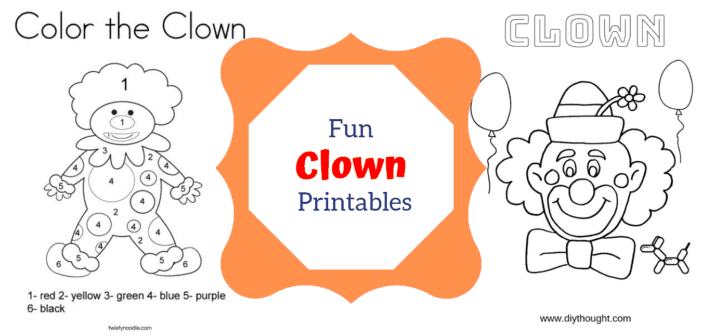5 Free Fun Clown Printables