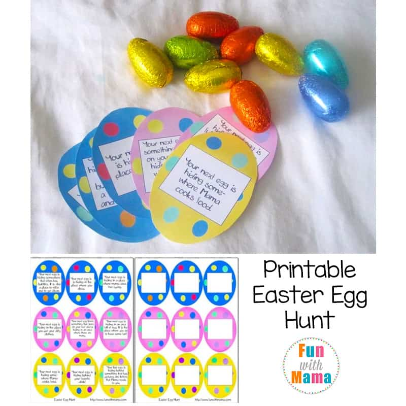 free printable egg hunt clues