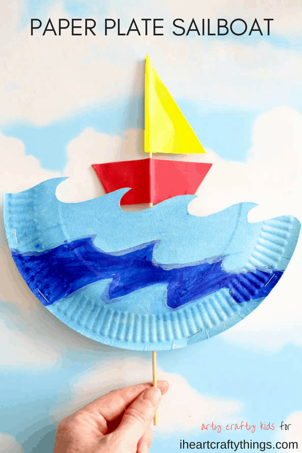 paper plate boat