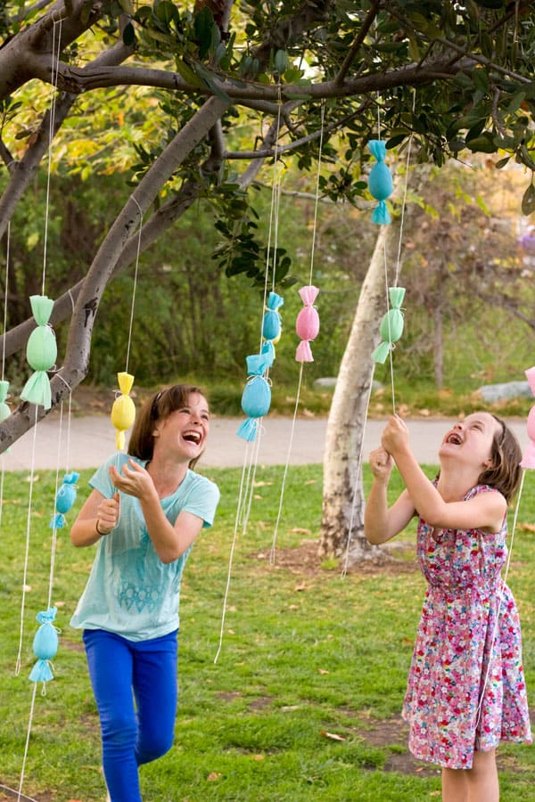 Egg tree easter hunt