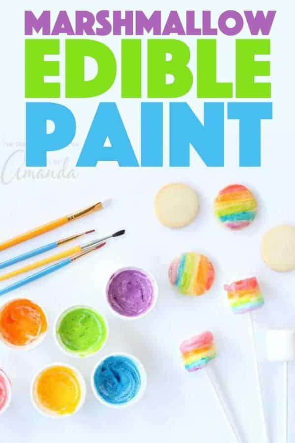 marshmallow edible paint