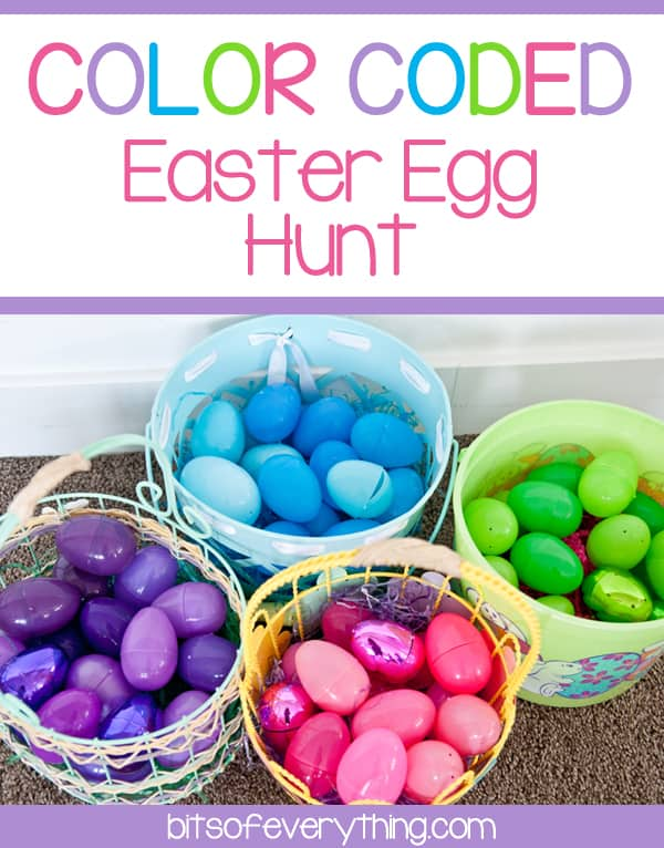color coded egg hunt