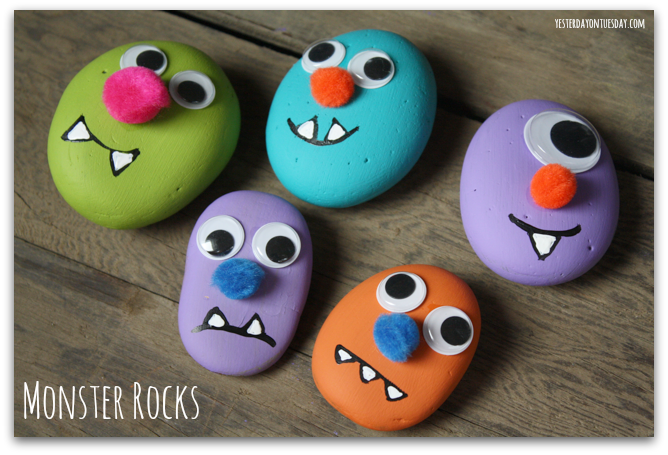 painted monster rocks