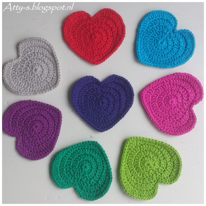 Heart coaster pattern