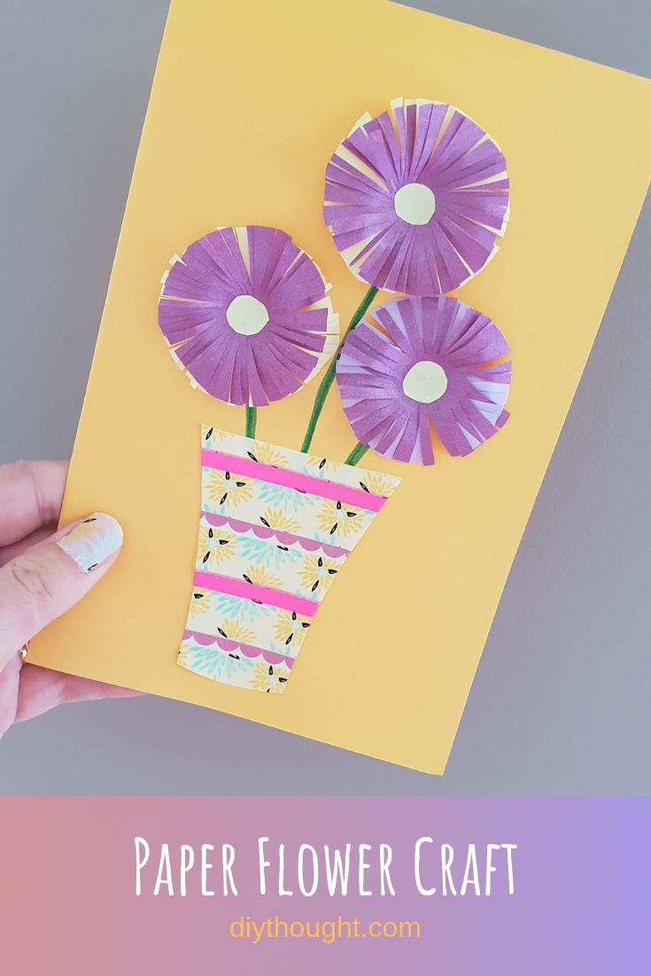 paper flower card