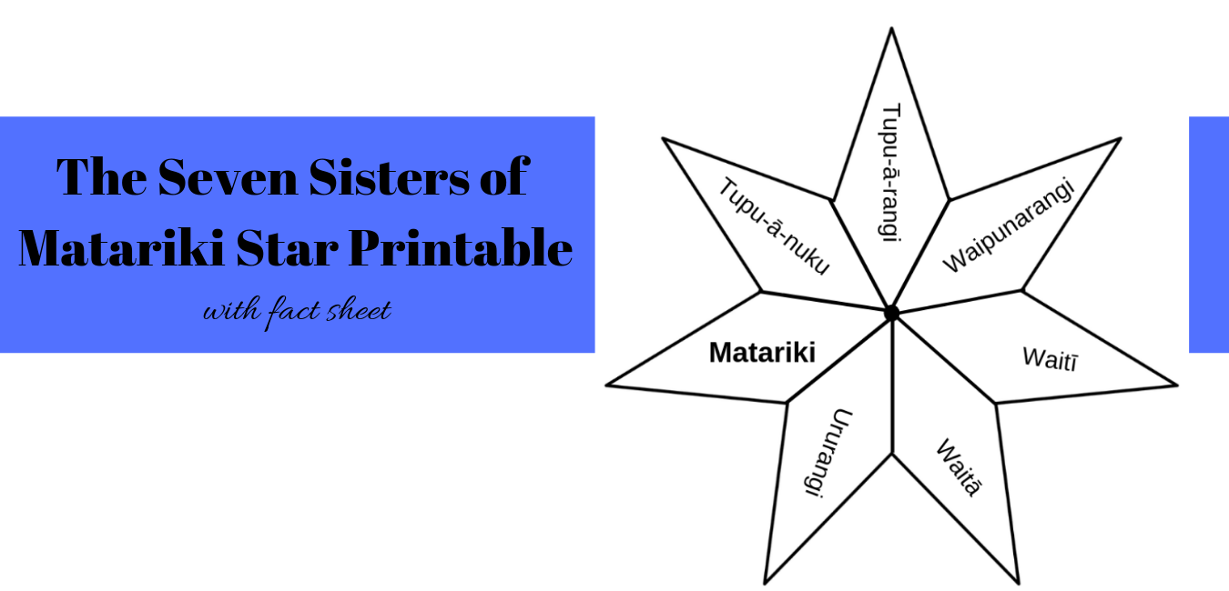 graphic regarding Star Printable called The 7 (9) Sisters of Matariki Star Printable - do-it-yourself Thing to consider