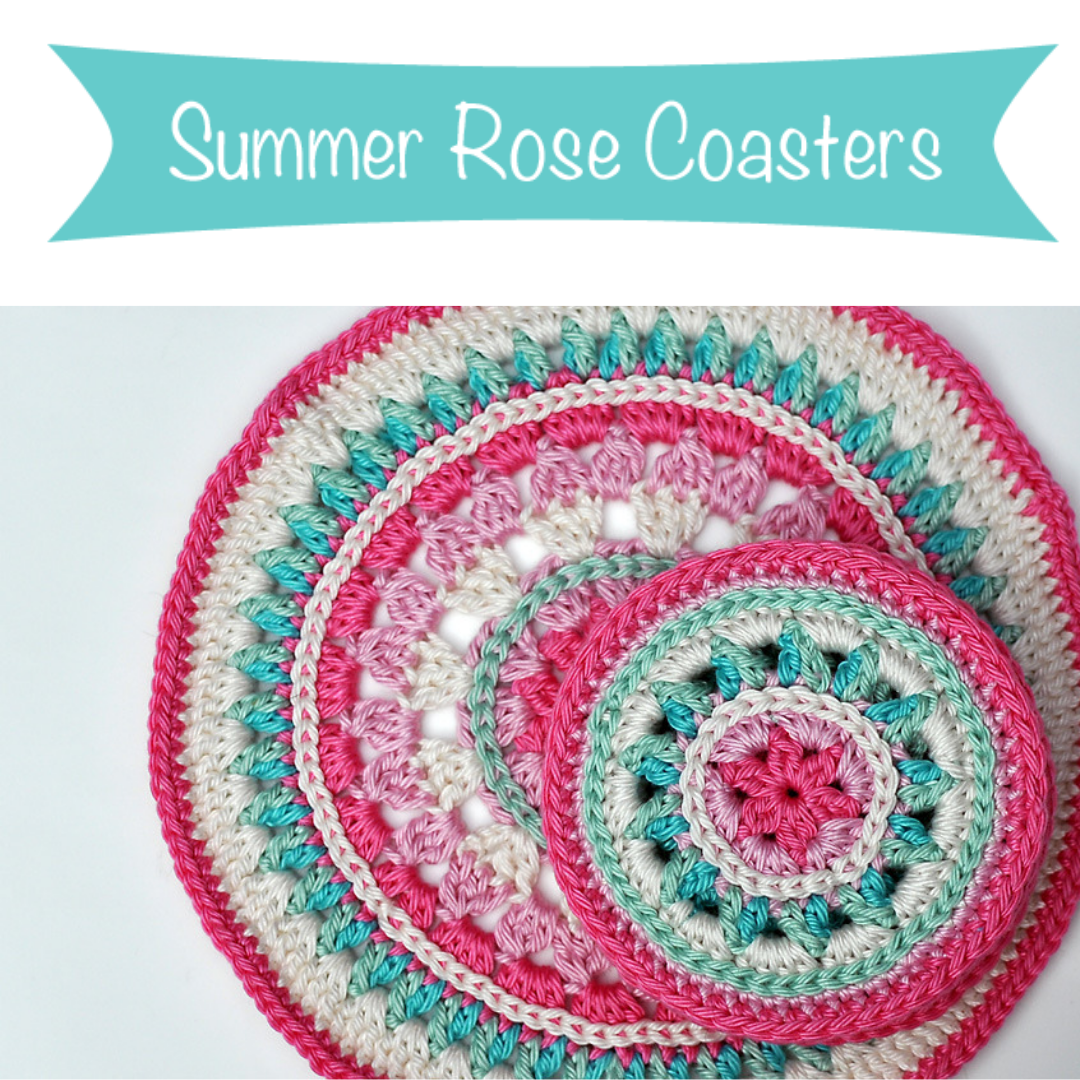 summer rose coaster pattern