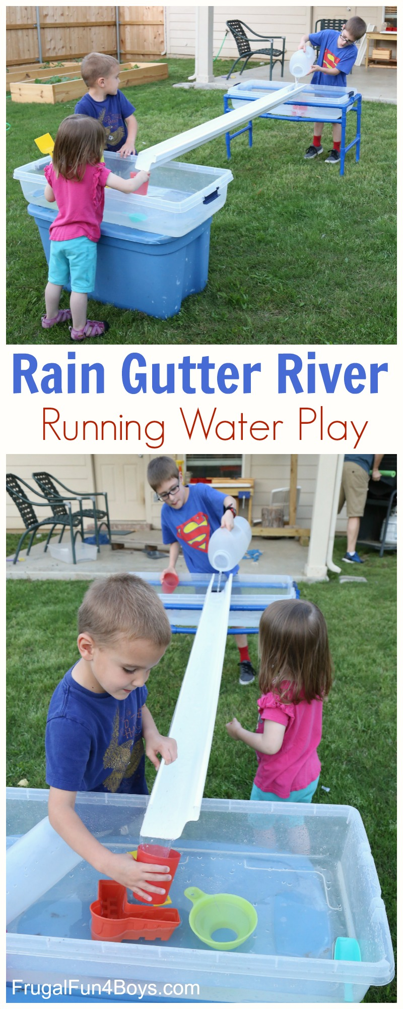 rain gutter river