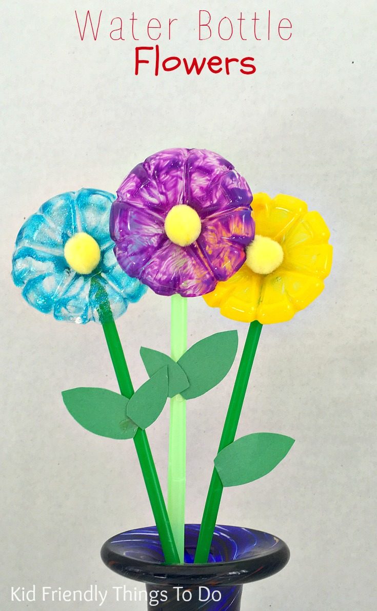 water bottle flower craft