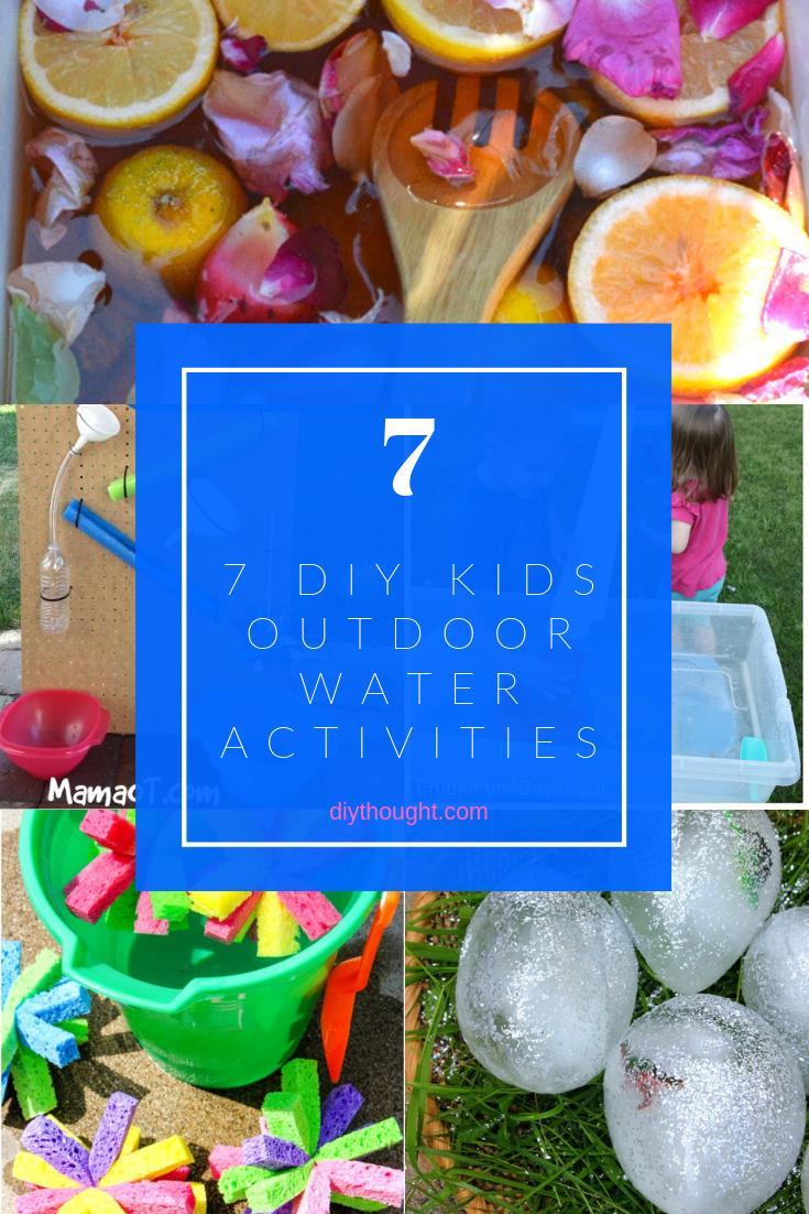 7 DIY Kids Outdoor Water Activities