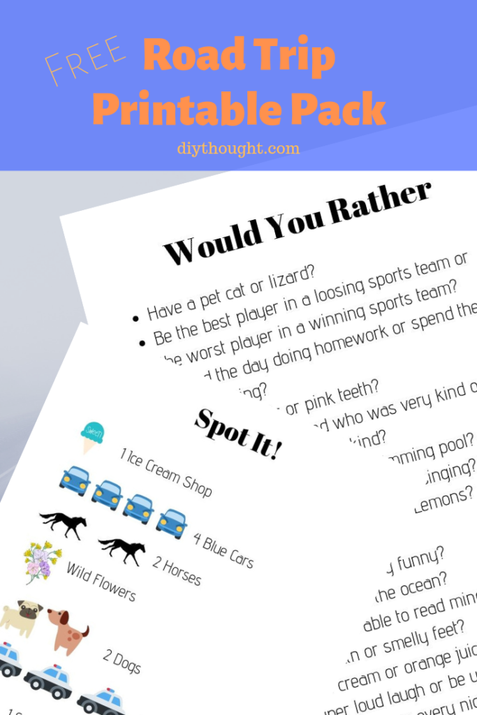 Free Road Trip Printable Pack