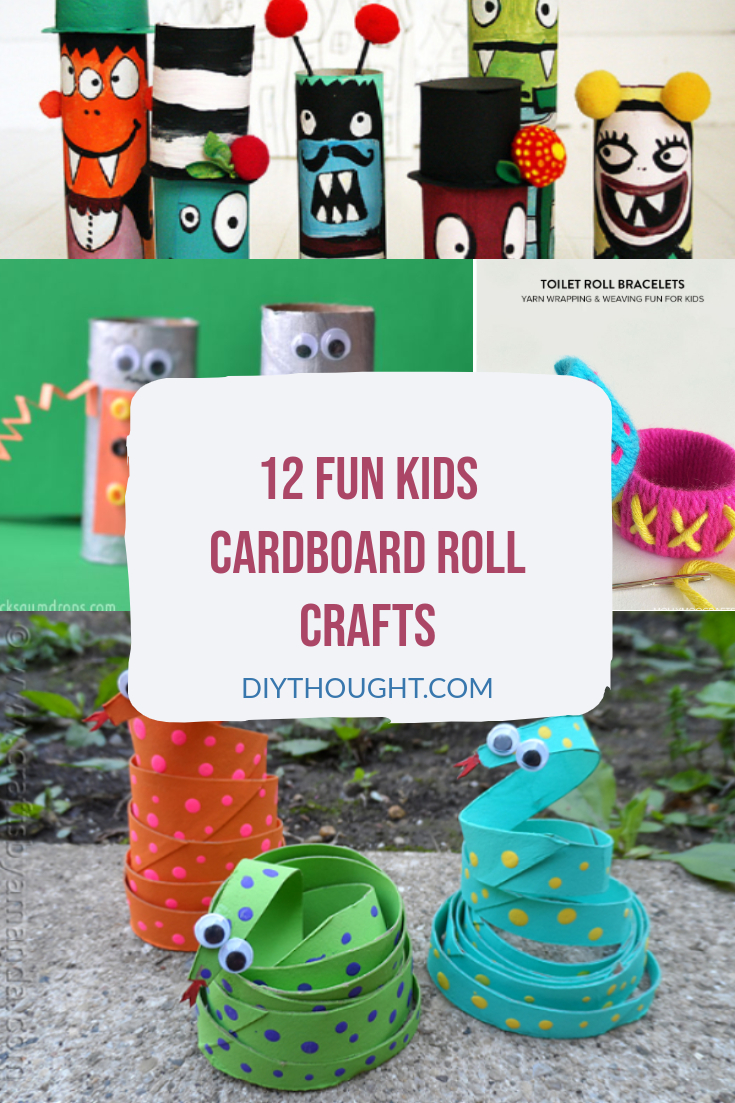 12 fun kids cardboard roll crafts
