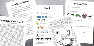 Road trip printable pack