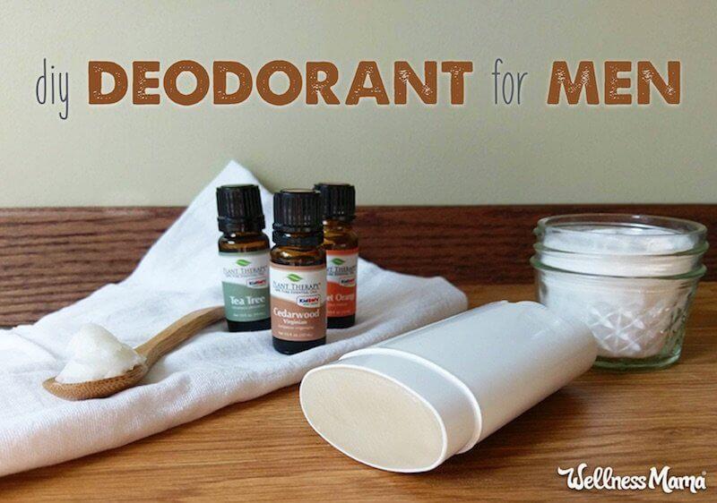 DIY natural deodorants man
