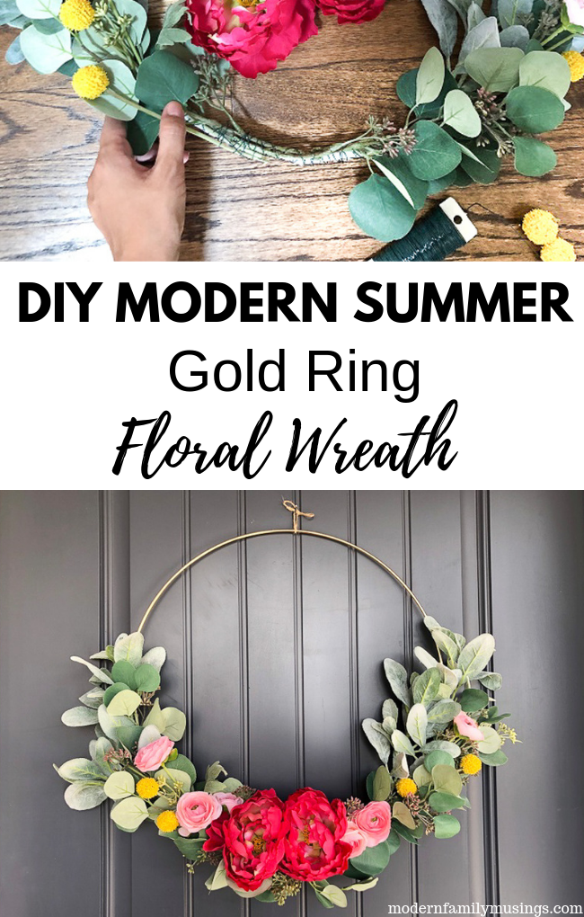 Gold ring floral wreath