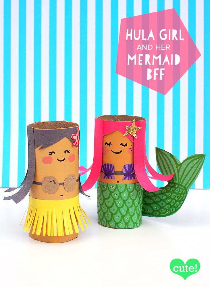 toilet roll mermaid craft