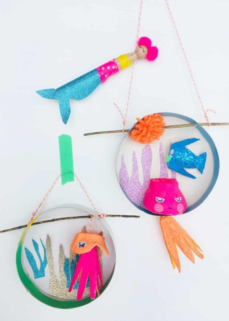 underwater mermaid fish wall hanging craft