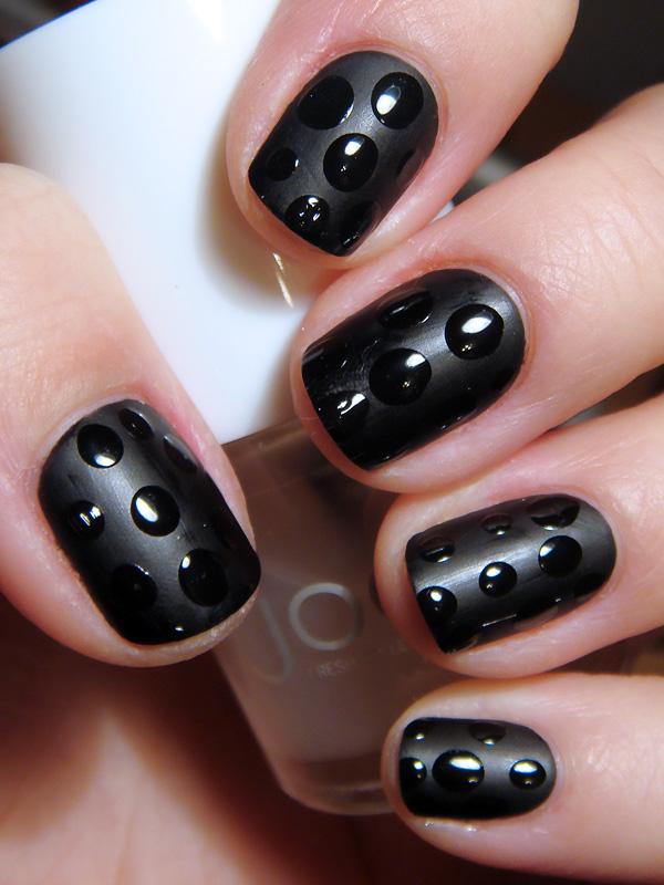 matte and gloss nail art