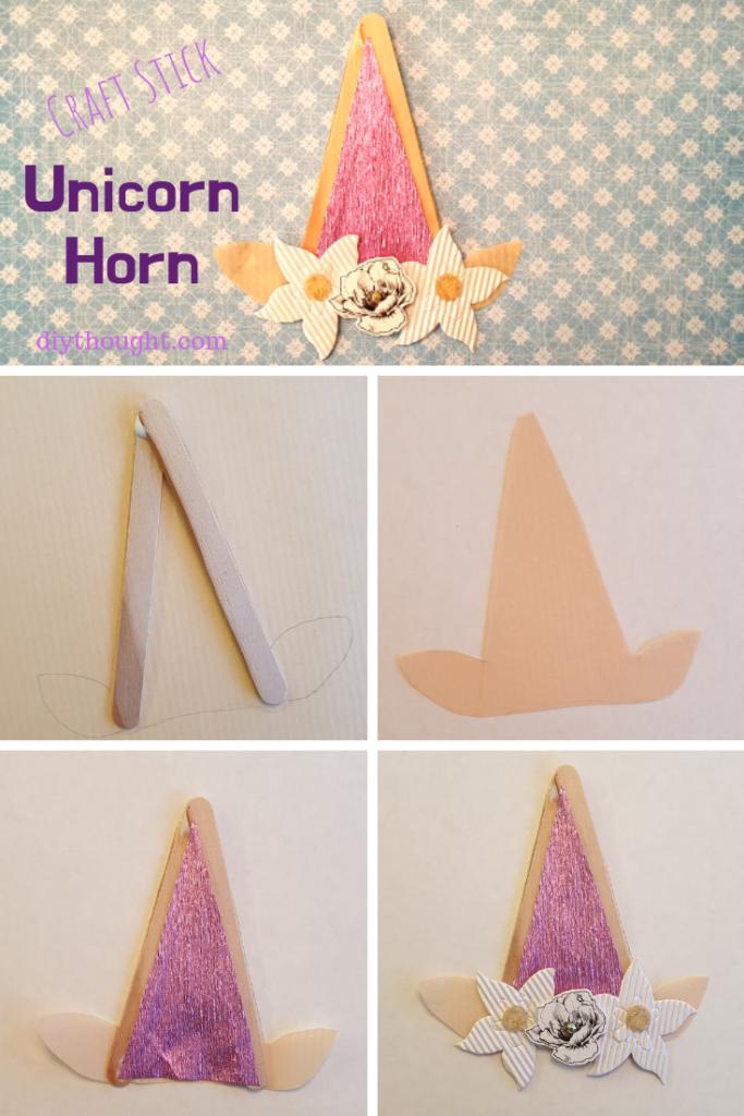 how to make a craft stick unicorn horn