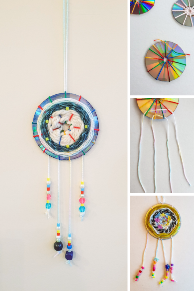 How to make a dreamcatcher from yarn and a CD
