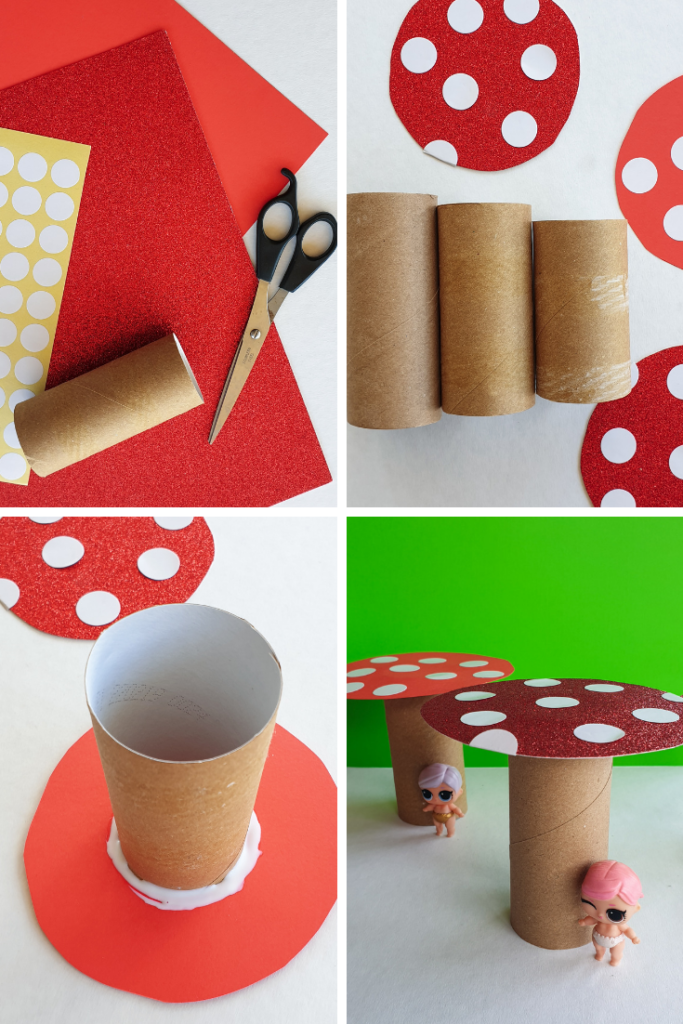 how to make a toilet paper roll toadstool