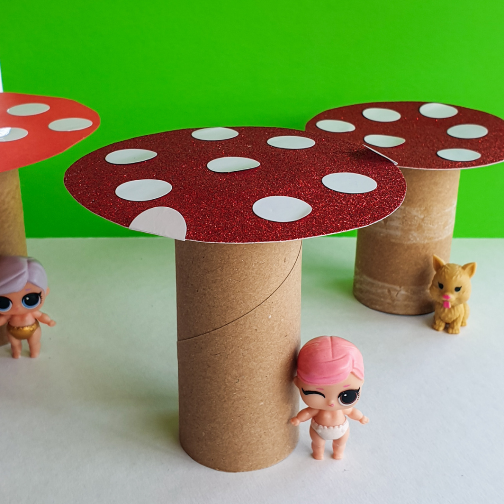 toilet paper roll toadstools