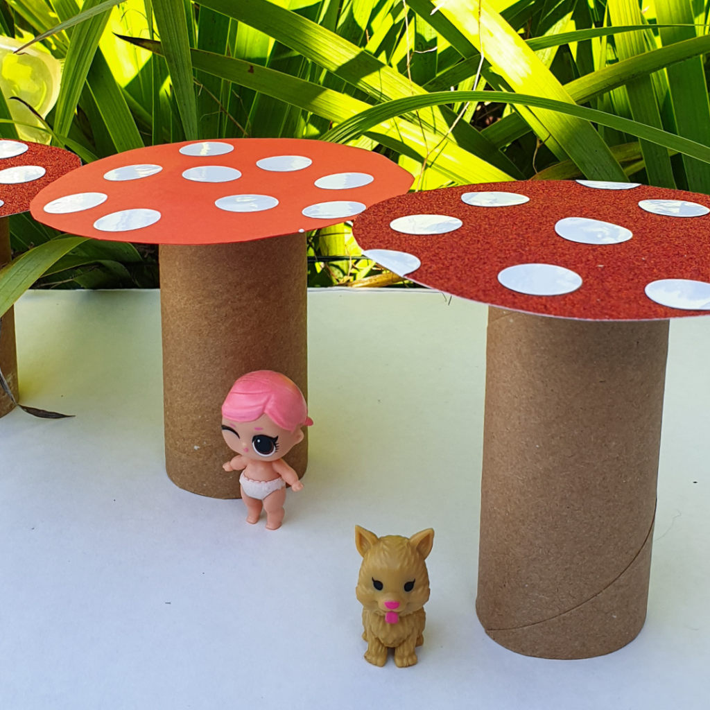 toilet roll toadstool craft